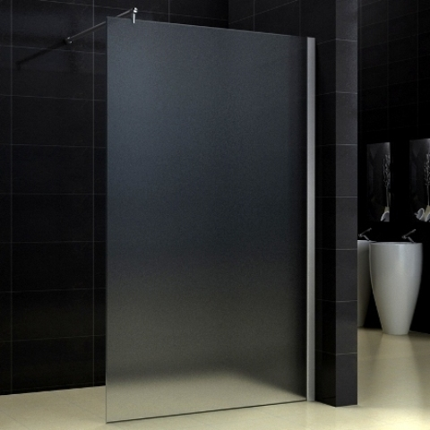 walk in seitenwand duschwand dusche 100cm milchglas ebay. Black Bedroom Furniture Sets. Home Design Ideas