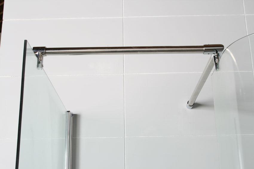 Gro e walk in schneckendusche rahmenlos gebogenes glas ebay for Dusche ohne tasse