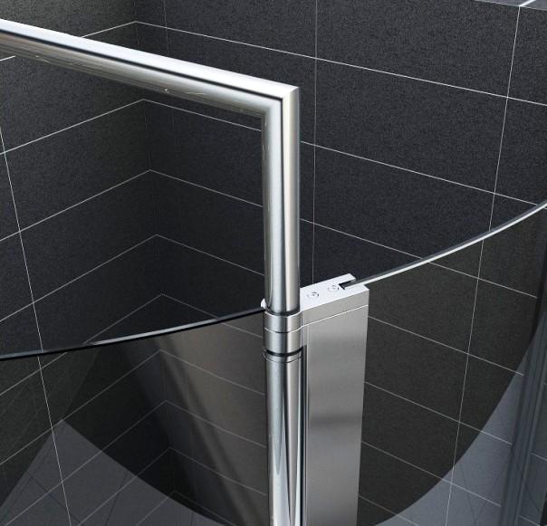 dusche duschkabine gro e eckdusche rund esg 125x95cm ebay. Black Bedroom Furniture Sets. Home Design Ideas